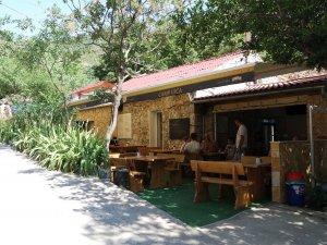 Ujča kemping recepciója és étterem része