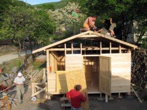 Búvárbázis története, faház építése
